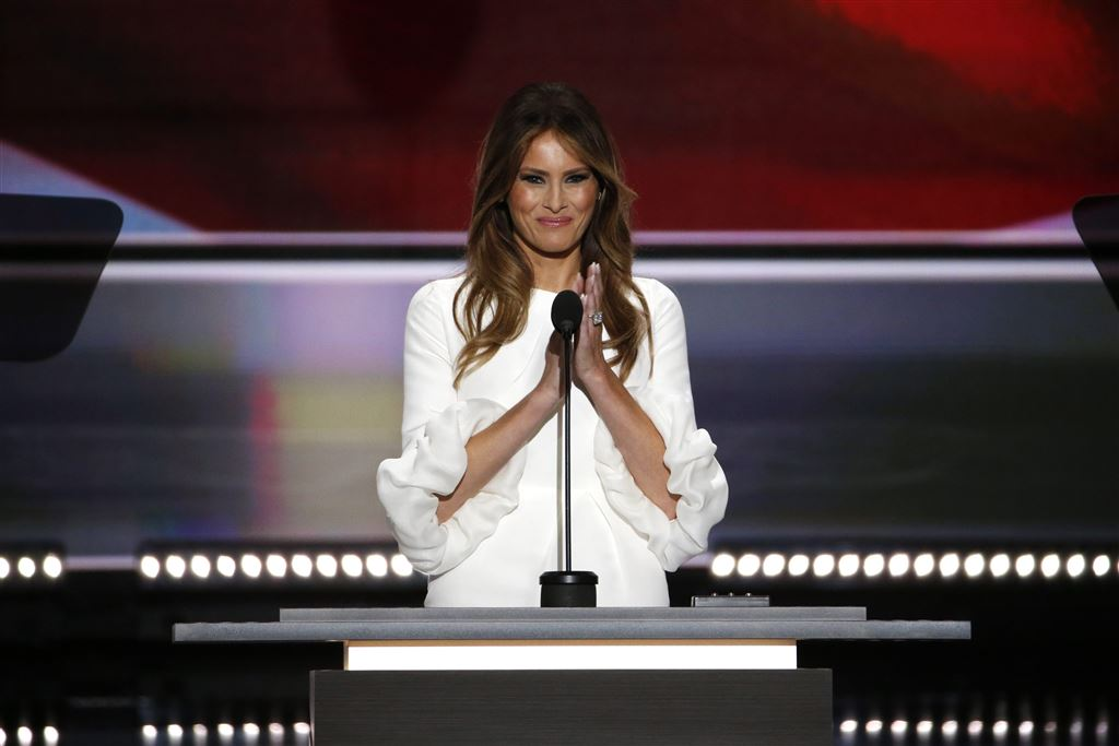 Commotie VS over speech Melania Trump