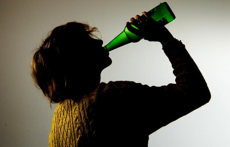PICTURE POSED BY MODEL File photo dated 09/03/15 of a woman drinking alcohol. Having a tipple to alleviate symptoms of premenstrual syndrome (PMS) may actually be making things worse, a new study suggests.