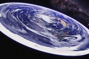 View of flat earth from space