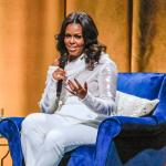 Michelle Obama in april in Nederland