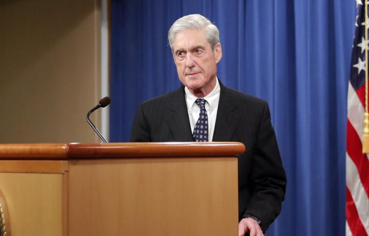 Special counsel Robert Muller arrives to speak at the Department of Justice Wednesday, May 29, 2019, in Washington, about the Russia investigation. (AP Photo/Carolyn Kaster)