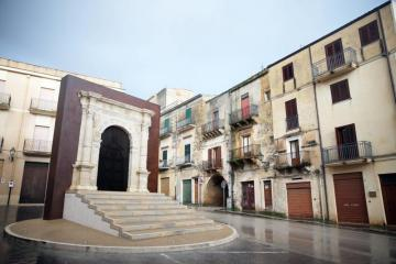 A general view of the village of Sambuca in Sicily, where houses are being sold for one Euro