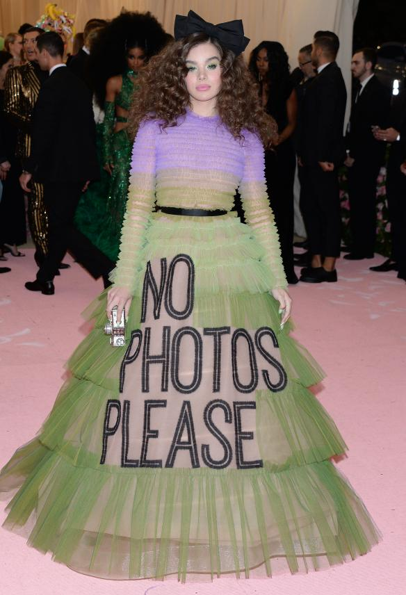 Pictured: Hailee Steinfeld Mandatory Credit © Gilbert Flores/BroadimageThe 2019 Met Gala Celebrating Camp: Notes on Fashion - Arrivals 5/6/19,The Metropolitan Museum of Art, New York CA, United States of America Broadimage Newswire Los Angeles 1+  (310) 301-1027 New York      1+  (646) 827-9134 sales@broadimage.com http://www.broadimage.com