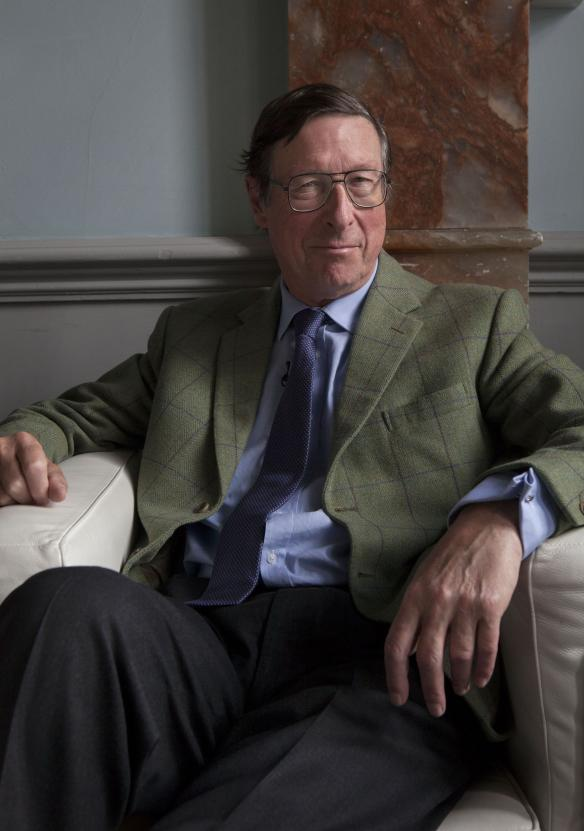 "Max Hastings at The Times Cheltenham Literature festival to promote his book ""catastrophe:Europe goes to war"". 10/10/13.copyright Tom PIlston© Tom Pilston / eyevine Contact eyevine for more information about using this image: T: +44 (0) 20 8709 8709 E: info@eyevine.com  http:///www.eyevine.com"