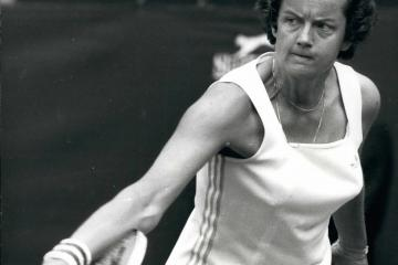 Jun. 06, 1977 - Virginia Wade (GB) And Betty Stove (NL) In The Final Of The Ladies Singles At Wimbledon: This years ladies final at Wimbledon on Friday will be between Britain's Virginia Wade and Betty Stove of Holland. Photo Shows Betty Stove seen in action in the semi-final against Sue Barker. Miss Stove 6-4 2-6 6-4. (Credit Image: © Keystone Pictures USA/ZUMAPRESS.com)