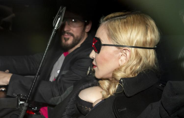 Madonna arrives for a Q&A at the MTV head office in London.