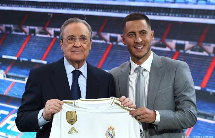 Real presenteert Hazard in vol Bernabéu