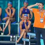 Hardhandige aftocht waterpolosters